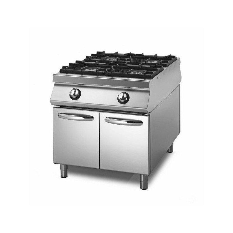 Cocina a gas sobre base con puertas equipamiento for Cocina gas profesional