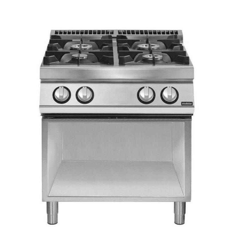 cocina a gas 4 fuegos equipamiento profesional para