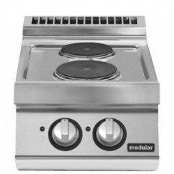 Cocina eléctrica versión top 2 fuegos redondos