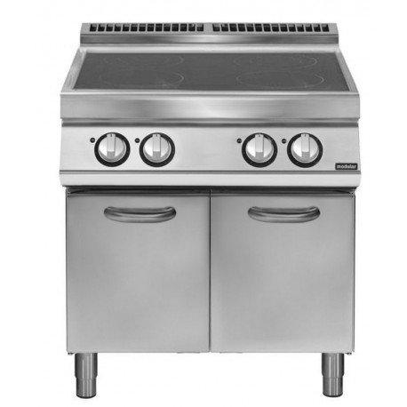 Cocina inducción sobre base con puerta 4 zonas de cocción Ø 220