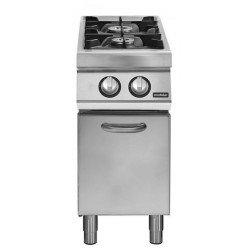 Cocina gas 2 fuegos sobre base con puerta
