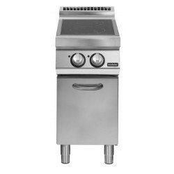 Cocina inducción sobre base con puerta