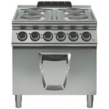 Cocina el ctrica 4 fuegos redondos con horno el ctrico gn for Cocinas electricas con horno