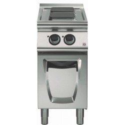 Cocina eléctrica sobre base con puerta