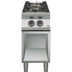 Cocina a gas 2 fuegos