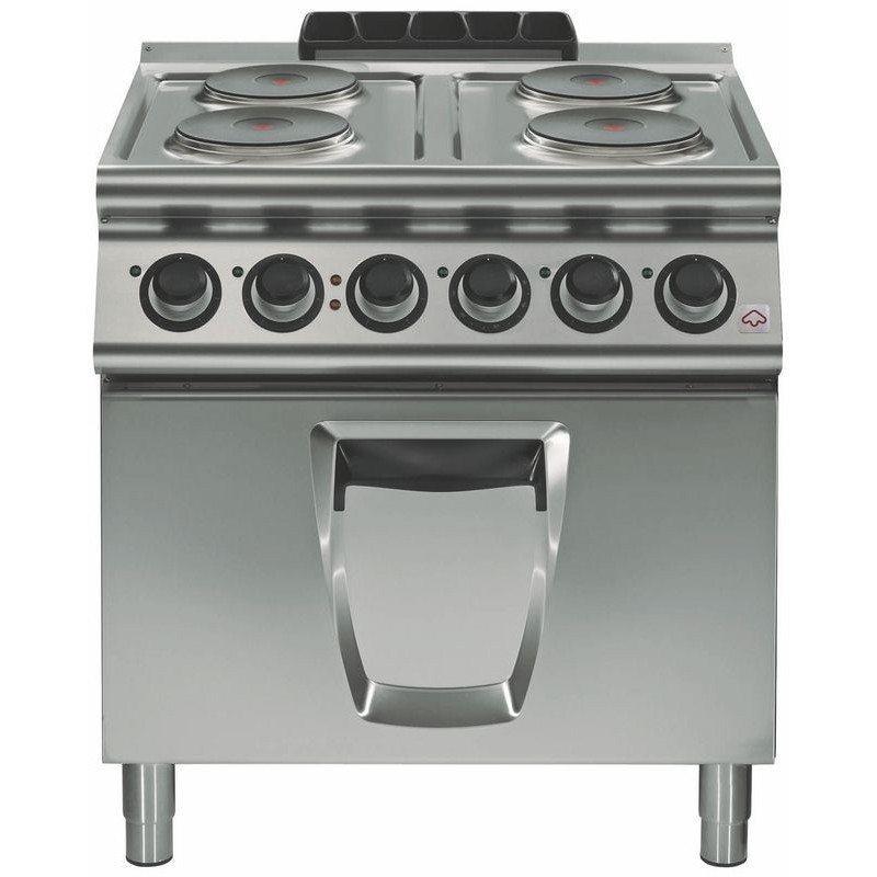 Cocina el ctrica 4 fuegos cuadrados con horno el ctrico a for Cocinas con horno electrico