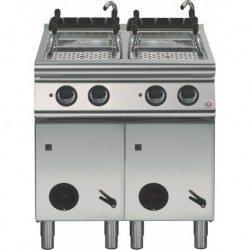 Cuece-pasta gas 2 cubas GN 1/1 - 40+40 L