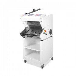 Cortadora de pan semiautomática de sobremesa inclinada con base