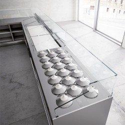 Pozzettis para helados de 3 filas
