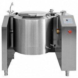 Marmita eléctrica indirecta de 160 Litros PTEM-150 con basculación eléctrica