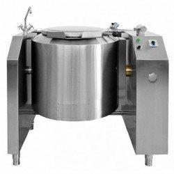 Marmita a vapor indirecta de 113 Litros PTV-100R con basculación eléctrica
