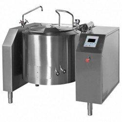Marmita eléctrica indirecta con mezclador de 150 Litros PERM-150 con basculación eléctrica