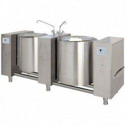 Marmita eléctrica directa de 100+100 Litros PSTME2-100 con basculación