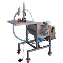 Dosificadora llenadora con mezclador y tolva calefactada