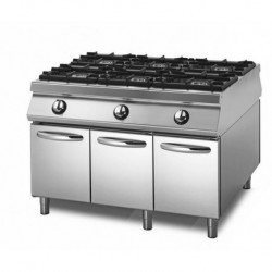 Cocina a gas sobre base con puertas Sensation 1100